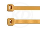 2.5 x 98 mm Kabelbinder, gold, 100 Stück