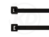 SONDERPOSTEN 4,8 x 360 mm Kabelbinder, schwarz 100 Stück