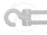 3.5 x 80 mm Kabelbinder mit Haken, natur, 100 Stück