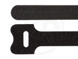 Klettbinder, schwarz, 12,5 x 180 mm, 20 Stück