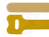 Klettbinder, gelb, 12,5 x 130 mm, 20 Stück