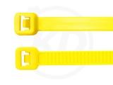 2.5 x 98 mm Kabelbinder, neongelb, 100 Stück