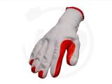 Baumwollhandschuhe mit Latexbeschichtung, rot, Gr. 10,5