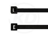 4,8 x 200 mm Kabelbinder, schwarz 100 Stück