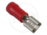 Flachsteckhülsen, isoliert, 2.8mm, 0.5 - 1.5mm², 100 Stück