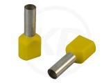 Aderendhülsen, zweifach, 15mm, 1.0mm², 100 Stück