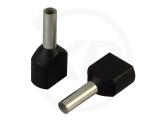 Aderendhülsen, zweifach, 20mm, 1.5mm², 100 Stück