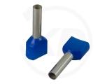 Aderendhülsen, zweifach, 18,5mm, 2.5mm², 100 Stück