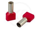 Aderendhülsen, zweifach, 26mm, 10.0mm², 100 Stück