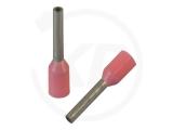 Aderendhülsen, isoliert, 10mm, 6mm, 0.34mm², 100 Stück