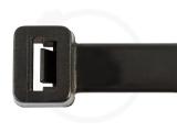 12,6 x 650 mm Kabelbinder, schwarz 100 Stück