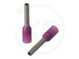 Aderendhülsen, isoliert, 10mm, 6mm, 0.25mm², 100 Stück