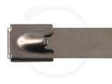 12,0 x 520 mm Edelstahlbinder mit Kugelfixierung 100 Stück