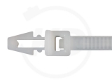 Kabelbinder mit Steckfuß 4,8 x 200 mm, natur, 100 Stück