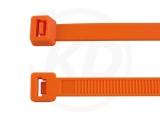 2,5 x 98 mm Kabelbinder, orange 100 Stück
