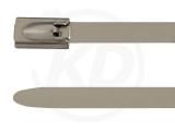 4,6 x 1194 mm Edelstahlbinder mit Kugelfixierung 100 Stück
