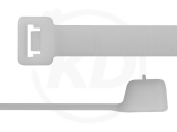 12,6 x 480 mm Kabelbinder, wiederlösbar, natur 100 Stück