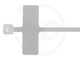 2,5 x 100 mm Kabelbinder, mit Beschriftungsfeld 100 Stück