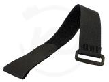 Klettbinder mit Umlenköse, 38 x 500 mm, schwarz, 10 Stück