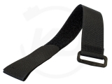 Velcro ties with buckle, 25 x 350 mm, black, 10 pieces