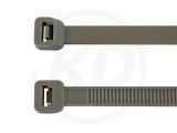 7,8 x 365 mm Kabelbinder, grau 100 Stück