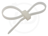 Double loop cable ties, 4,8 x 200 mm, nature, 100 pieces