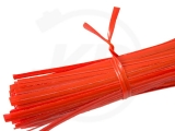 Twist ties, 10 cm, red, 1000 pieces