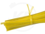 Twist ties, 10 cm, yellow, 1000 pieces