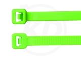 4,8 x 200 mm Kabelbinder, neongrün 100 Stück