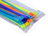 Kabelbinder Set - 4,8 x 200 mm, neon, 20 Stück