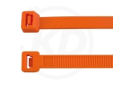 4,8 x 200 mm Cable ties, orange 100 pieces