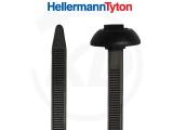 Kabelbinder für Einlochmontage mit rundem Verschlusskopf, 7,6 x 375 mm