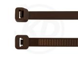 4,8 x 290 mm Kabelbinder, braun 100 Stück