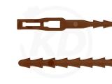PE-Binder, 5,4 x 170 mm, braun, 100 Stück