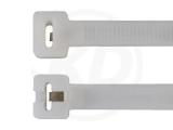 Kabelbinder mit Metallzunge, 4,8 x 186 mm, natur, 100 Stück